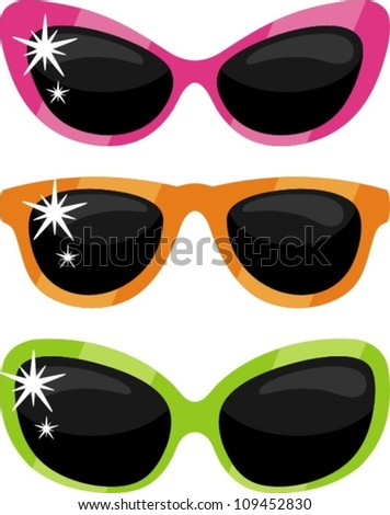 Glasses clip-art - stock vector