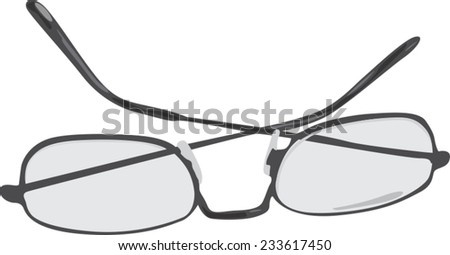 Glasses (eyeglasses) isolated (no background). Vector illustration. - stock vector