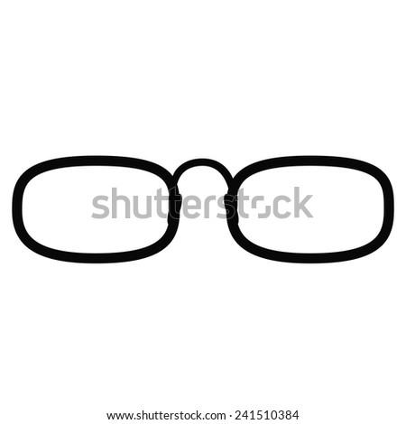 Glasses (eyeglasses) isolated. Vector illustration. - stock vector