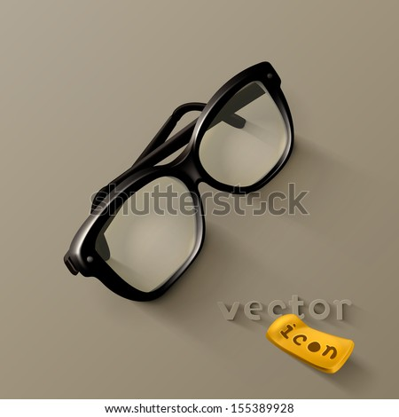 Glasses icon - stock vector