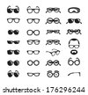 Glasses icons. Vector format - stock