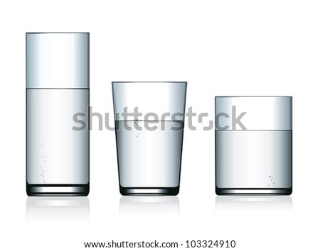 Glasses of water.