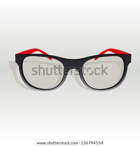 Glasses on a gray background