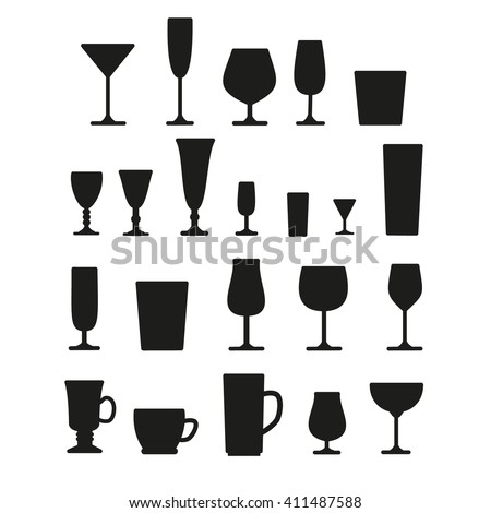 Glasses silhouette - stock vector