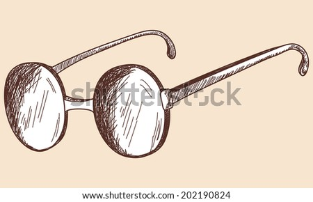 Glasses sketch. EPS 10 vector illustration without transparency.  - stock vector
