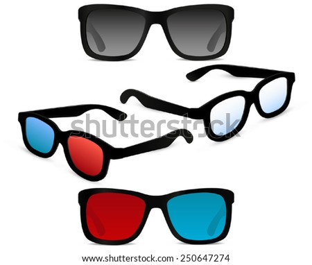 3d Cinema Glasses Stock Illustrations & Cartoons ...