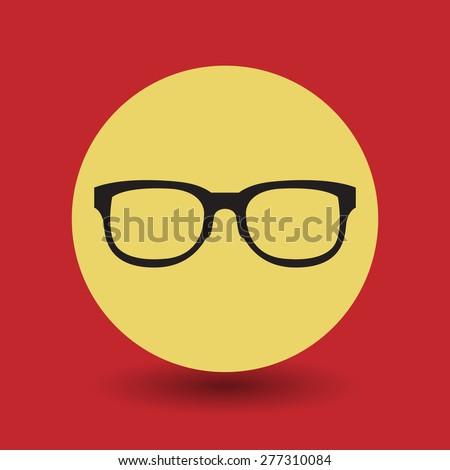 Glasses symbol, vector illustration - stock vector