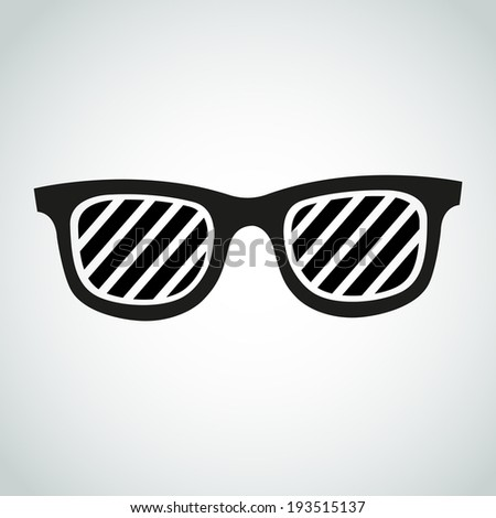 glasses with stripes vector