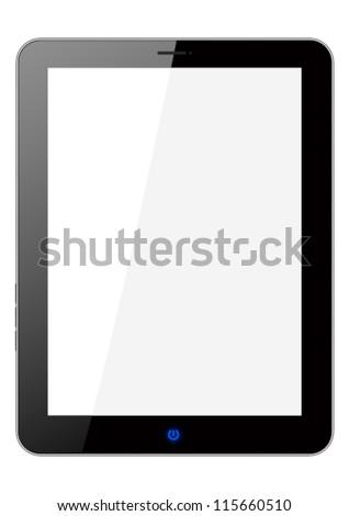 Glassy frame as tablet pc - stock vector