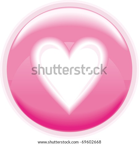 Glitter pink heart - stock vector
