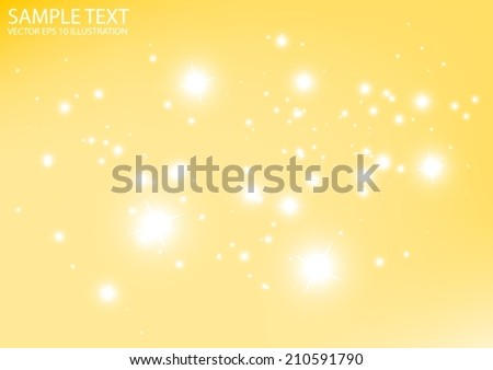 Glittering  space vector orange background illustration  - Vector abstract sparkle template background - stock vector