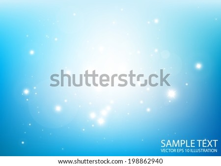 Glittering vector blue space background  illustration - Vector abstract blue spark shiny   template background - stock vector