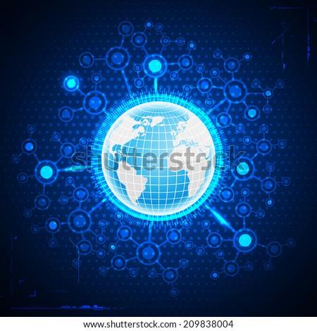 Global business. - stock vector