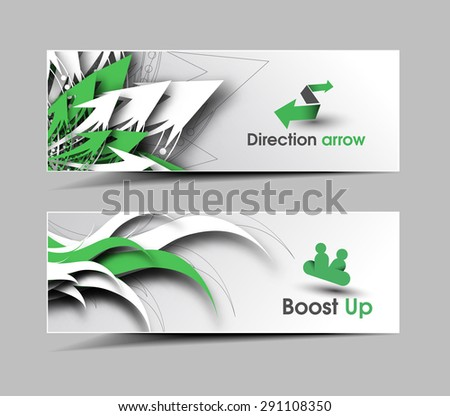 Global Business Ad, Web Banner & Header Layout Template. - stock vector
