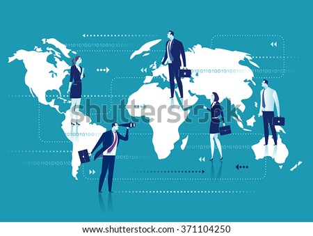 Global Business. Business concept - stock vector