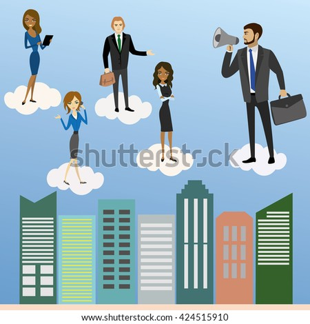 Global Business concept. Vector illustration - stock vector