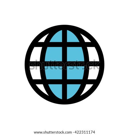 Global business line icon. Pixel perfect fully editable vector icon suitable for websites, info graphics and print media.