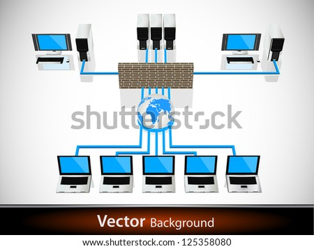 Global business network concept - stock vector
