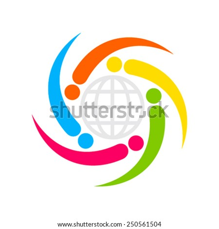 global business relation icon design concept vector - stock vector