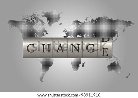 Global Change - stock vector