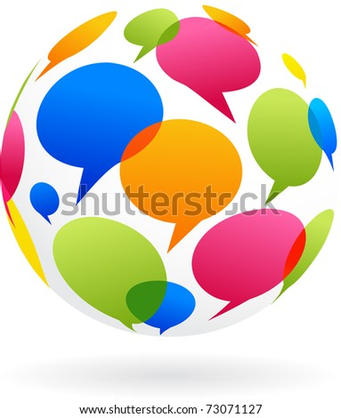 Global communication concept image - stock vector
