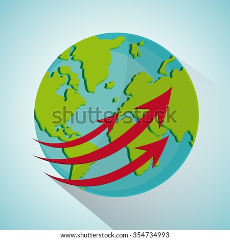 Global  communication concept with  planet design, vector illustration 10 eps graphic.