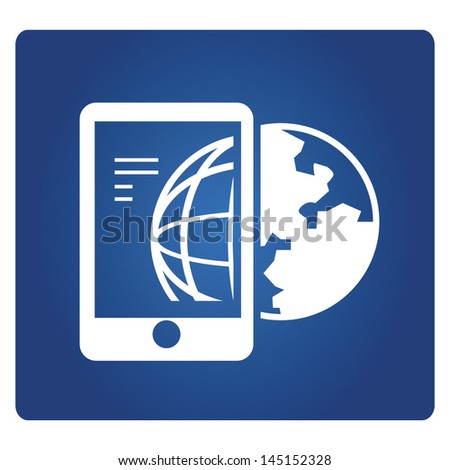 global communication, global technology - stock vector
