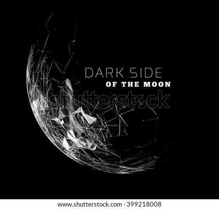 Global communication in the sphere form. Stylized planet moon. Vector illustration - stock vector