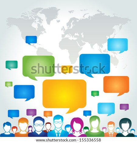 Global communication network concept - stock vector