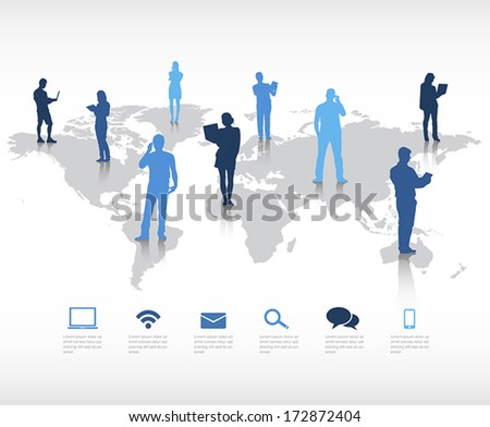 Global Communication Vector - stock vector