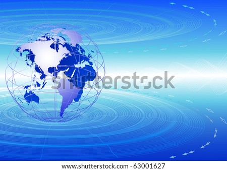 Global communications. - stock vector