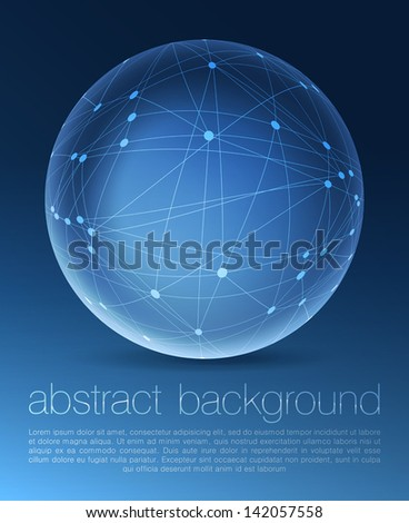 Global communications concept. Vector - stock vector