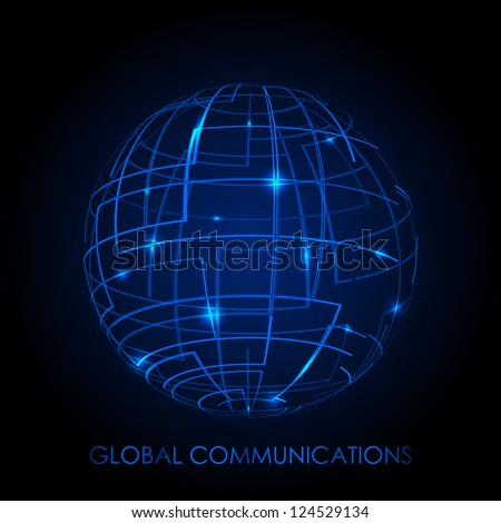 Global communications - vector background - stock vector