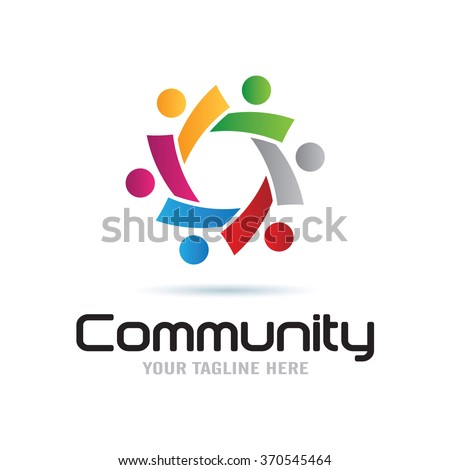 Global Community Logo Icon Elements Template - stock vector