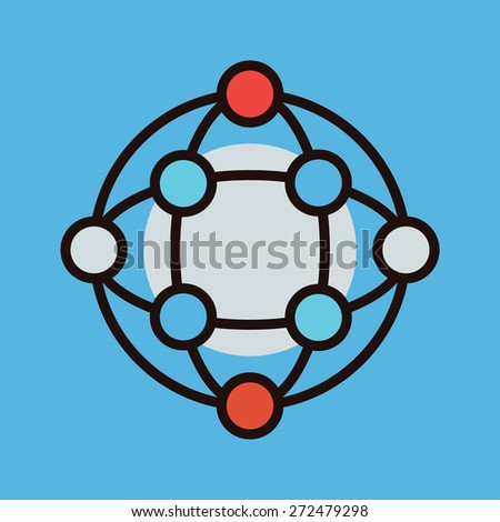Global connections concept simple vector icon. - stock vector