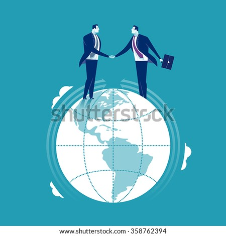 Global Cooperation. Business concept - stock vector