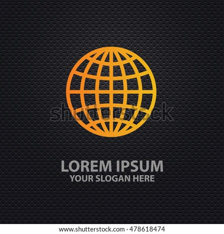 Global design on dark background,vector