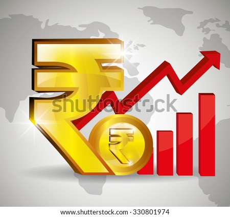 Global economy,business and money graphic design, vector illustration.