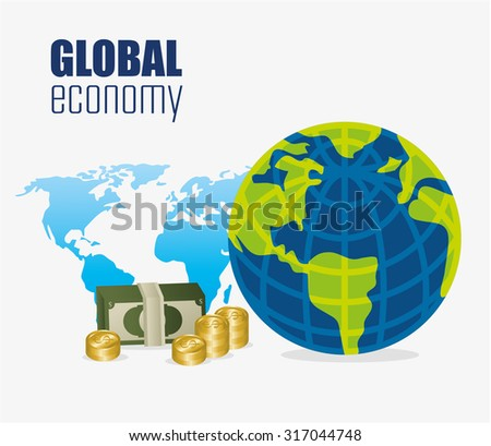 Global economy,money and business design, vector illustration