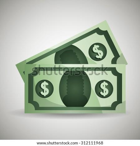 Global economy money design, vector illustration eps 10. - stock vector