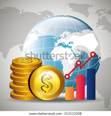 Global economy money design, vector illustration eps 10. - stock vector