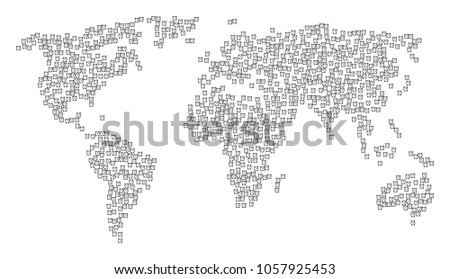 Global geography collage map combined alarm stock vector 1057925453 global geography collage map combined of alarm clock pictograms vector alarm clock scatter flat pictograms gumiabroncs Image collections