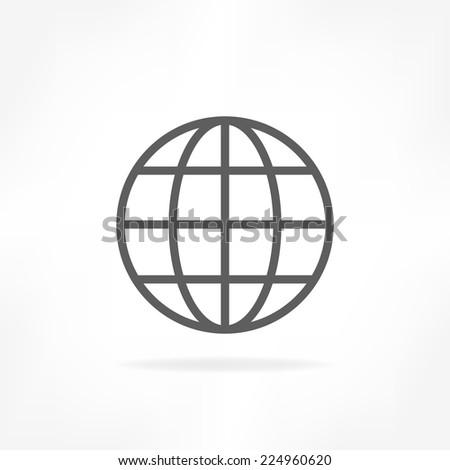 global icon  - stock vector