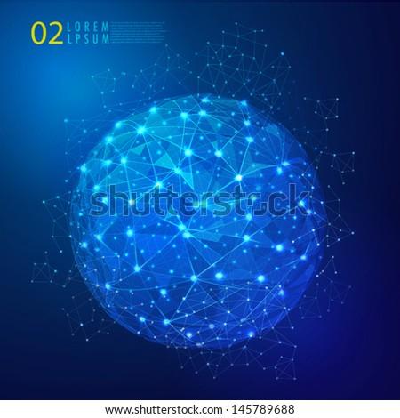 Global mesh network digital and technology, Vector eps10  - stock vector