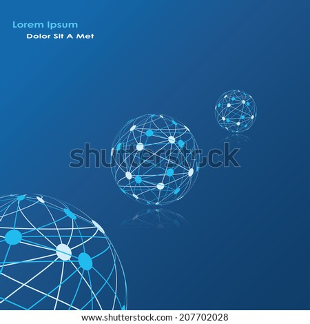 global network abstract background. vector eps10 - stock vector