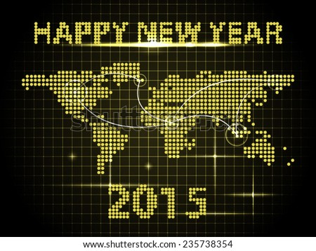 Global network connection concept. New Year celebration. - stock vector