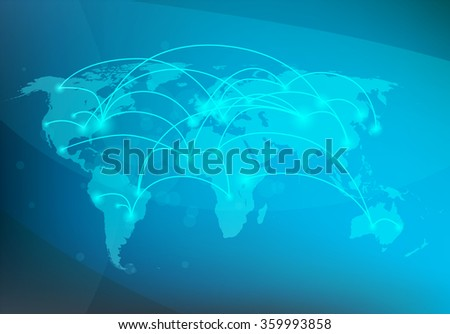 global network connection concept, vector illustration - stock vector