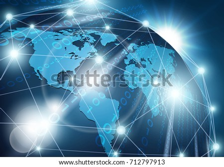 Global network connection. Vector illustration.