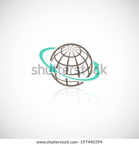 Global networking connection sphere social media worldwide concept vector illustration - stock vector