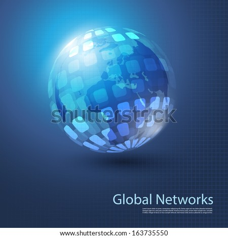 Global Networks   Eps 10 Vector for Your Business - stock vector